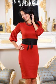 Платье кирпичного цвета Angela Ricci