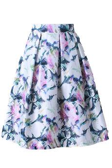 Юбка колокол с цветочным принтом Kokette