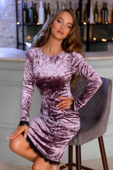 Новинка: велюровое платье аметистового цвета Open-Style