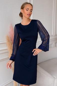 Новинка: темно-синее коктейльное платье Open-Style